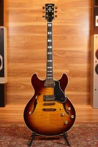 Yamaha SA2200 Handcrafted Semi Hollow Electric Guitar - Violin Sunburst