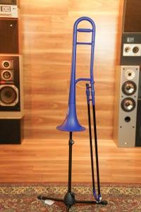 Zo Plastic Trombone - Blue Blast