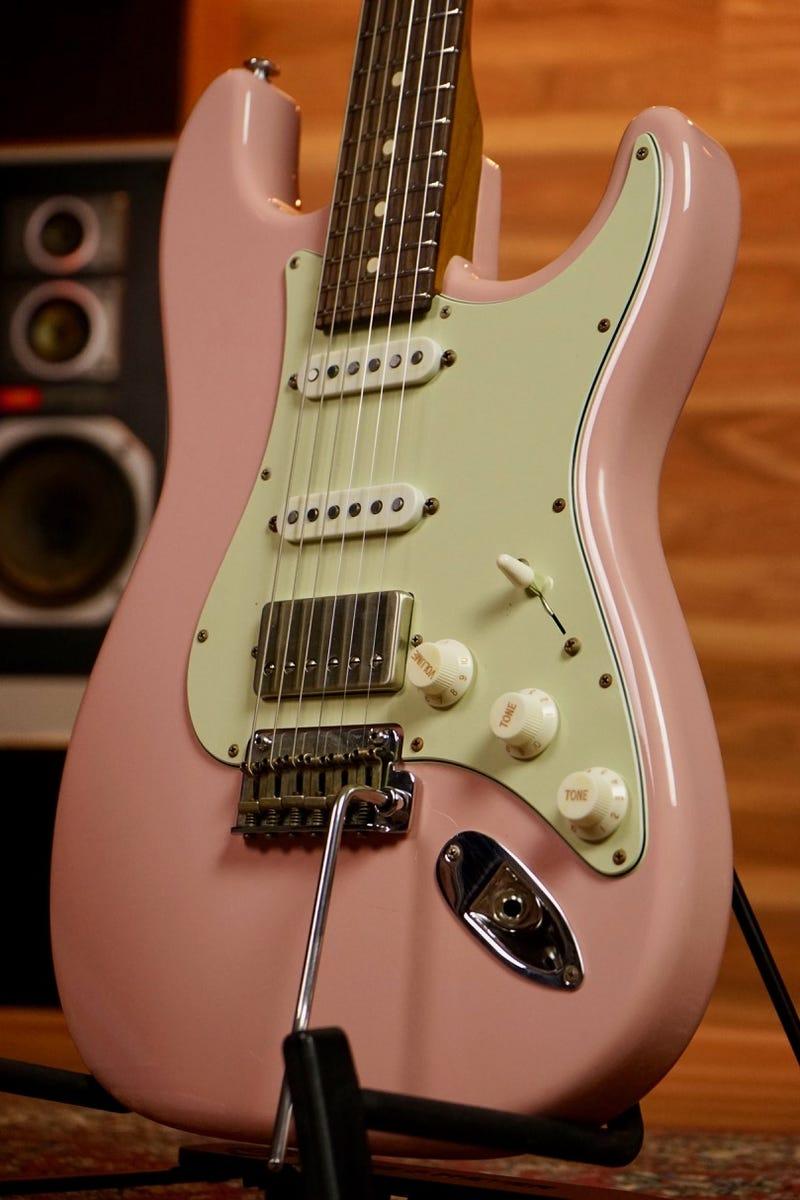 Suhr Mateus Asato Classic S Antique Signature Guitar - Shell Pink