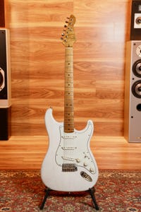 LSL Saticoy One B Electric Guitar - Vintage White Matte/Roasted Maple