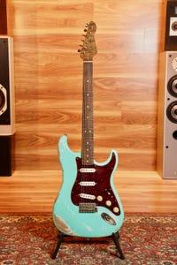 LSL Saticoy Alder Electric Guitar - Seafoam Green/Roasted Maple