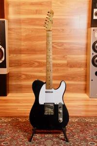 LSL T Bone One B Swamp Ash Guitar - Black Matte (Roasted Maple Neck)