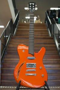 "Vance Custom ""The Judge"" J1 Electric Guitar w/Case - Candy Orange"