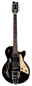 Duesenberg Starplayer TV Electric Guitar w/Case - Black