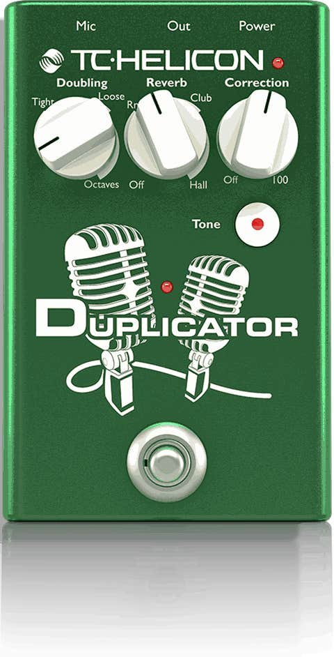 TC Helicon Duplicator Vocal Doubler and Effect Pedal