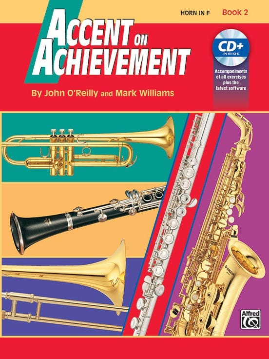 accent on achievement book 2 French Horn / OREILLY WILLIAMS (ALFRED)