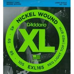 Daddario EXL165 nickel wound bass string set 45-105