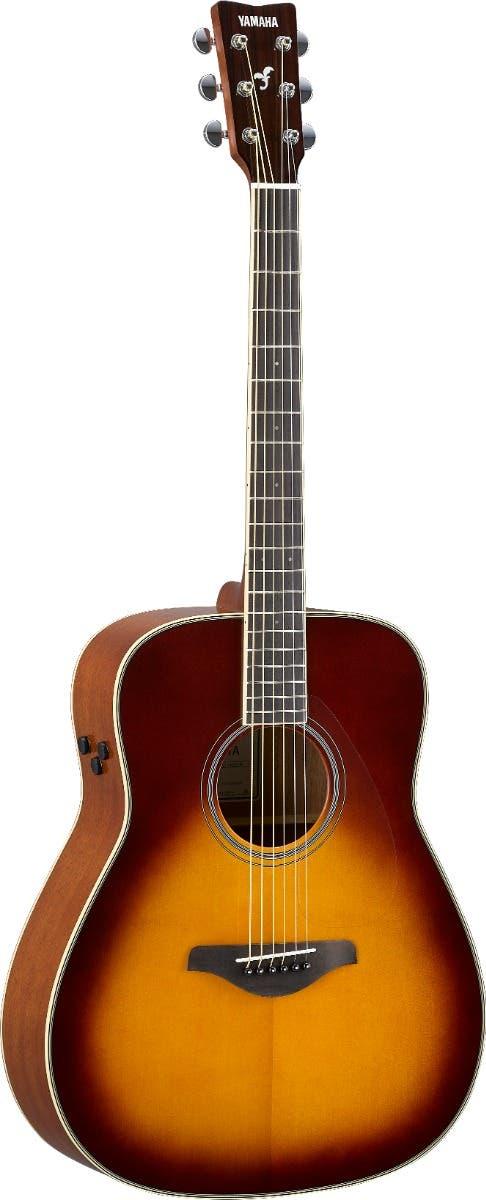 Yamaha FG-TA TransAcoustic Dreadnaught Guitar - Brown Sunburst