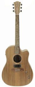 Cole Clark FL2EC-BLBL-HUM Acoustic Guitar w/Humbucker Pickup + Case - Blackwood