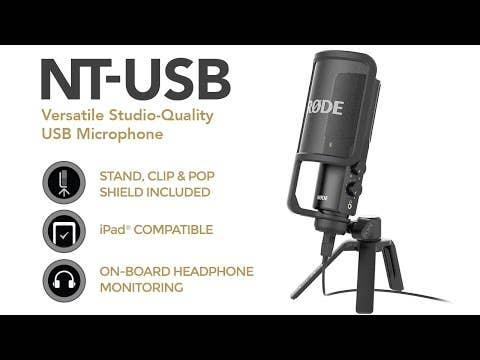 Rode NT-USB Versatile Studio-Quality USB Microphone (NTUSB)