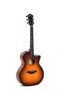 Sigma GACE-3-SB Auditorium Acoustic Electric Guitar - European Spruce / Flame Maple (Limited)