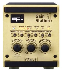 SPL Gainstation 1 Class A & Tube Microphone and Instrument Preamplifier