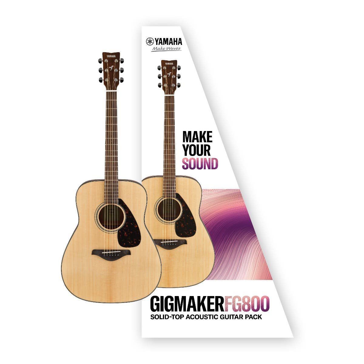 Yamaha FG800 Gigmaker Acoustic Guitar Value Pack - Matte Finish