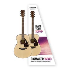 Yamaha Gigmaker FS800 Small Body Acoustic Guitar Package