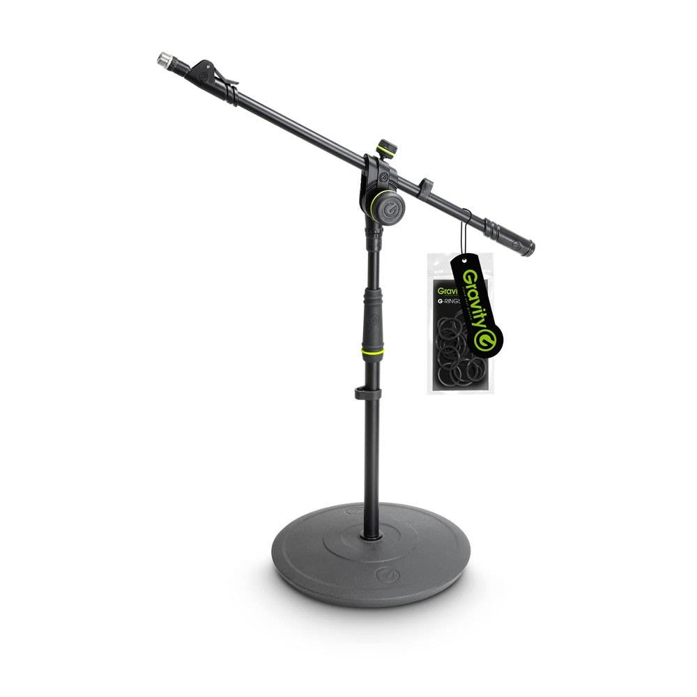 Gravity MS2222B Short Microphone Boom Stand w/Round Base