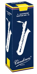 Vandoren traditional baritone sax reeds - box of 5 - strength 2.5