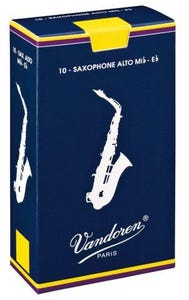 Vandoren traditional alto sax reeds - box of 10 - strength 1.5