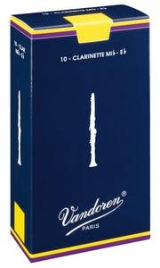 Vandoren traditional eb soprano clarinet reeds - box of 10 - strength 2.5