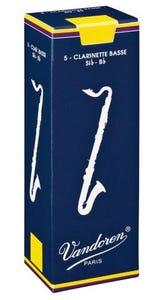 Vandoren traditional bass clarinet reeds - box of 5 - strength 3.0
