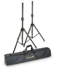 Gravity SS5211BSET1 Aluminium Speaker Stand Pair w/Carry Bag