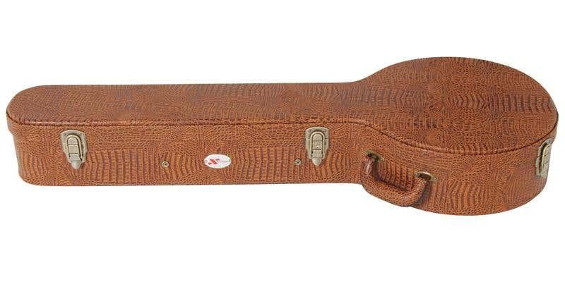 Xtreme HC3090 Banjo Case - Brown Croc Vinyl