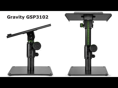 Gravity SP3102 Table-Top Adjustable Studio Monitor Stand (Single)
