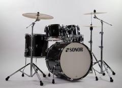 Sonor Stage AQ2 5pc Drum Kit w/Hardware - Trans Satin Black