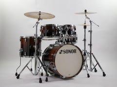 Sonor Studio AQ2 5pc Drum Kit w/Hardware - Brown Fade