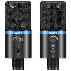 iRig Mic Studio Ultra Portable Large Diaphragm Mic for iPhone/iPad/iPod Touch/Android/Mac/PC - Black