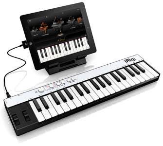 iRig Keys Light 37-key MIDI controller keyboard for iPad/Mac/PC
