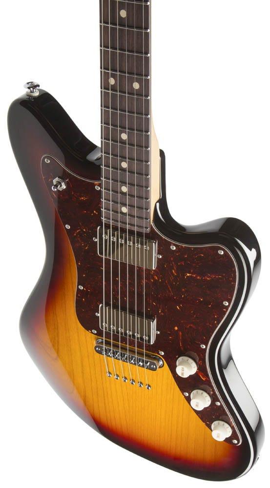Suhr Classic JM Pro Electric Guitar - 3 Tone Burst (SSV Humbuckers/Tunomatic Bridge)
