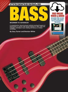 PROGRESSIVE BASS GUITAR - BOOK/ONLINE MEDIA (KOALA)