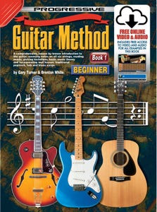 progressive guitar method BOOK 1 book/online media /  (KOALA)