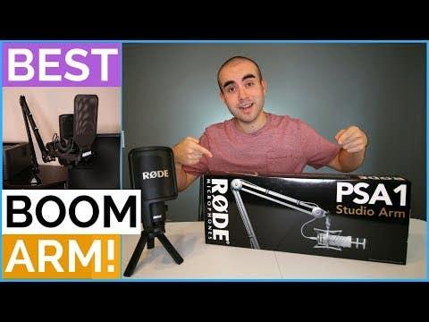 Rode PSA1 Studio Broadcast Style Boom Arm (For Desktop Use)