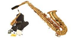 Wisemann Eb Alto Saxophone Kit - Brass Lacquer Finish
