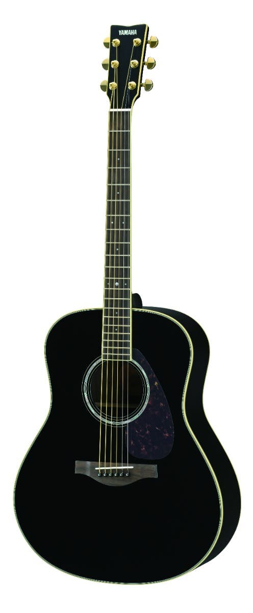 Yamaha LL6ARE Jumbo Acoustic Electric Guitar w/Hard Bag - Black