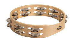 Ludwig LM Percussion Wood Double Row Tambourine - Steel (LM125)