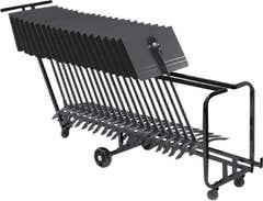 Manhasset Storage Cart w/24 Manhasset Stands