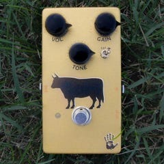 """Mojo Hand FX Sacred Cow """"Professional Gold"""" Overdrive Pedal"""