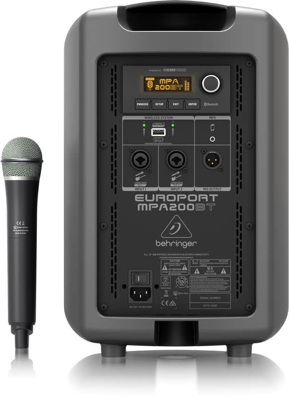 Behringer MPA200BT Portable Speaker w/Wireless Mic and Bluetooth