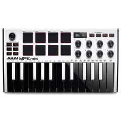 AKAI MPK Mini MK3 Portable Controller Keyboard - White