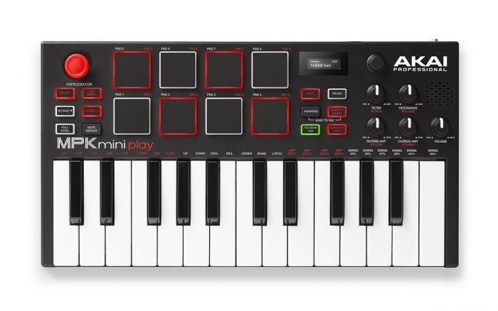 AKAI MPK Mini PLAY Mini Controller Keyboard with Built-in Speakers