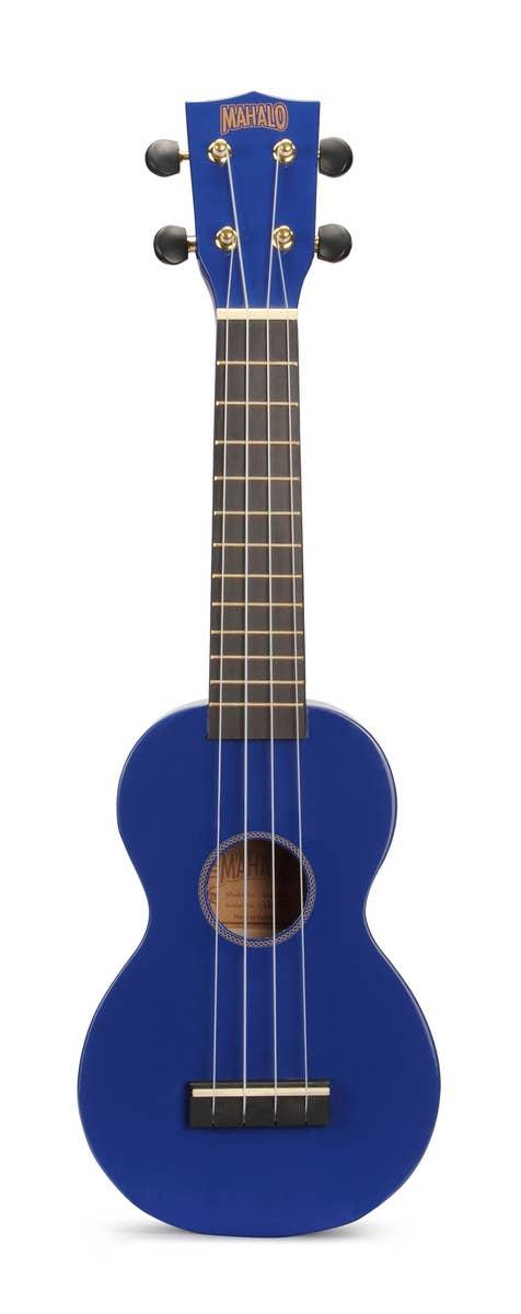 Mahalo Rainbow Series Soprano Ukulele - Blue (MR1BU)