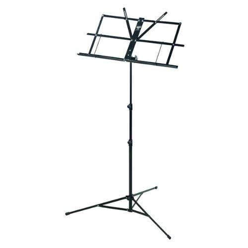 Armour lightweight foldable music stand with bag - Black (MS3127BK)