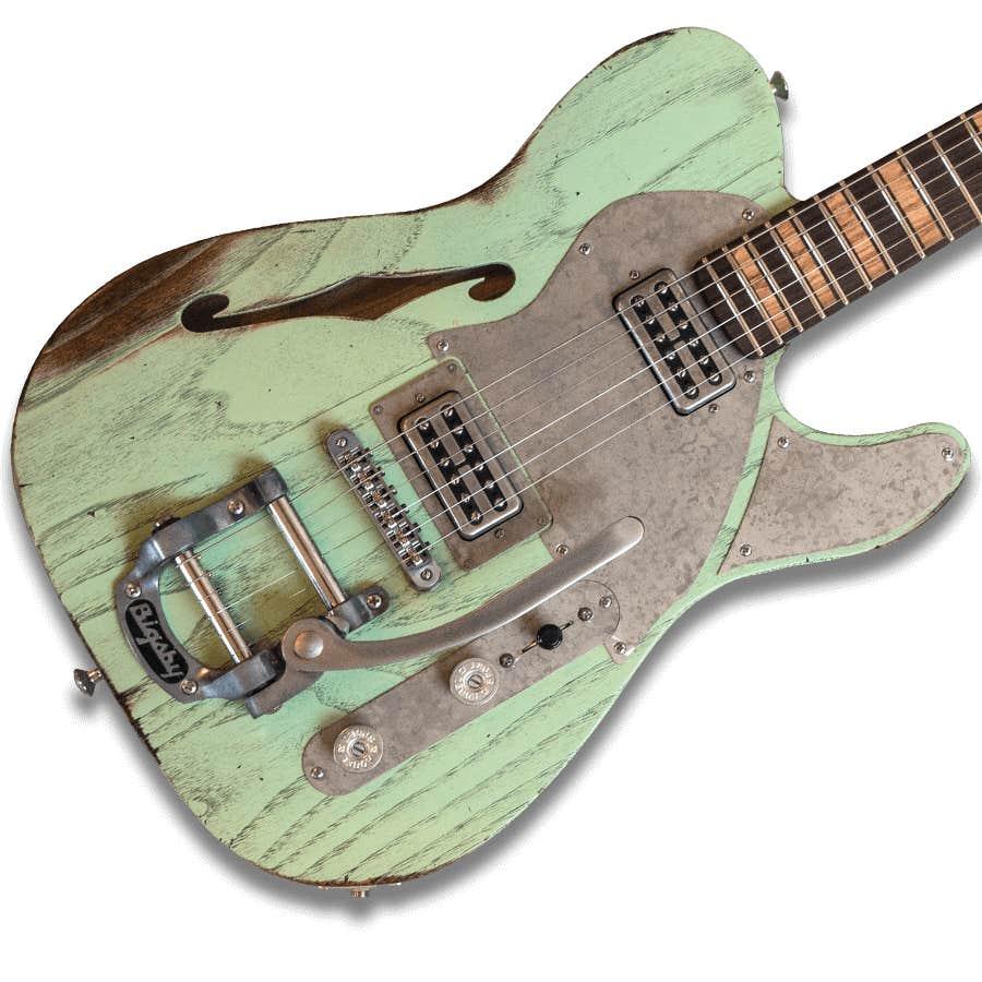Paoletti Guitars Nancy Lounge Filtertron w/Bigsby - Surf Green