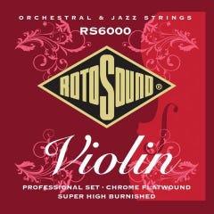 Rotosound RS6000 Violin String Set (Monel Flatwound)