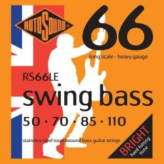 Rotosound RS66LE Swing Bass 66 Bass Strings - 45-110 (Stainless Steel)
