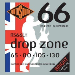 Rotosound RS66LH Drop Zone 66 Bass Strings - 65-130