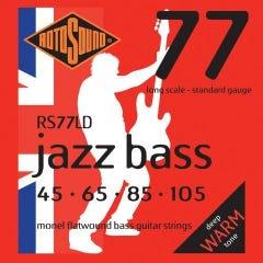 Rotosound RS77LD Jazz Bass 77 Bass Strings - 45-105 (Monel Flatwound)