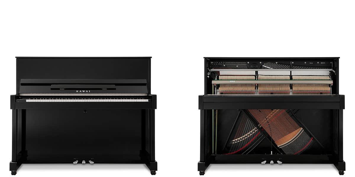 Kawai ND21 121cm Upright Piano - Ebony Polish (ND21/MEP)